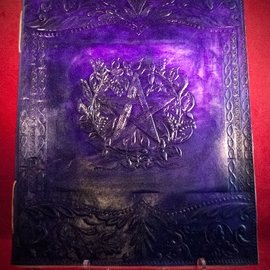 Hex Large Herbal Pentagram Journal in Purple