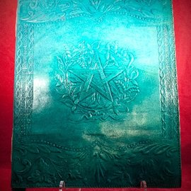 Hex Large Herbal Pentagram Journal in Blue