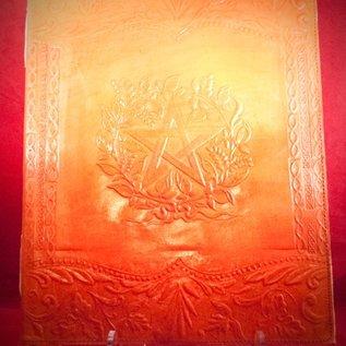 Hex Large Herbal Pentagram Journal in Orange