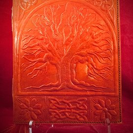 Hex Large Tree of Life Journal in Orange