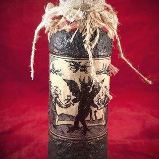 Hex The Devilïs Witchery Woodcut Spell Bottle