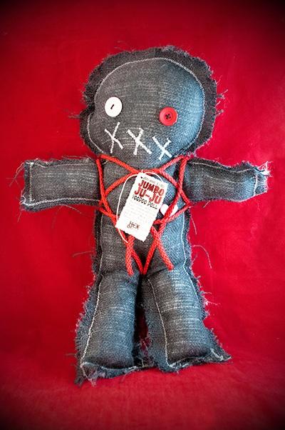 Mama Kyri's Jumbo Ju-Ju Burlap Voodoo Doll in Black - Hex ...