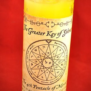 Hex 4th Pentacle of Mercury 7-Day Candle