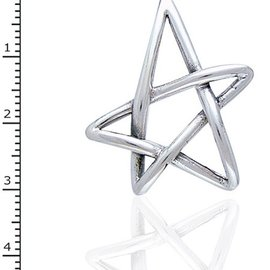 Hex Free Form Star Pendant