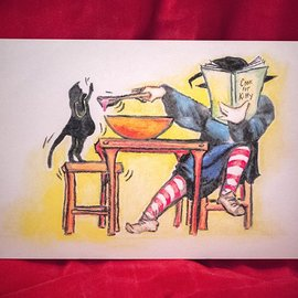 Hex Cook for Kitty Postcard by Sabrina the Ink Witch