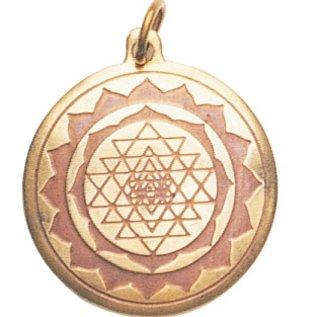Hex Shri Yantra Charm Pendant for Good Luck