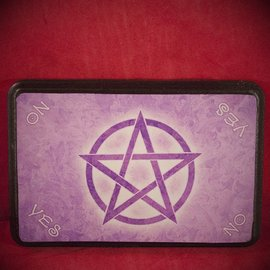 Hex Purple Pentacle Pendulum Board