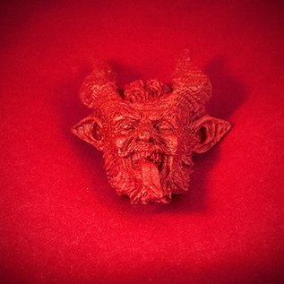 Hex Small Krampus Magnet in Red Finish
