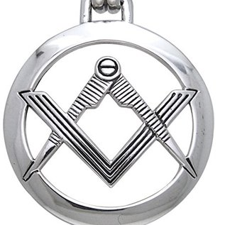 Hex Compass Square Pendant