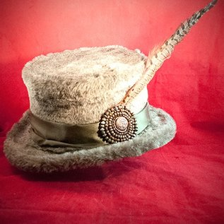 Hex Top hat w feather