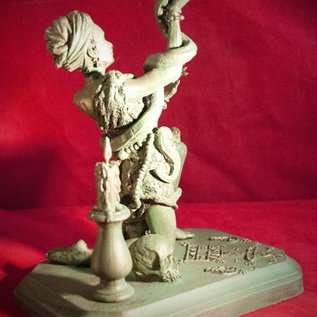 Hex Marie Laveau Statue in Antique Finish