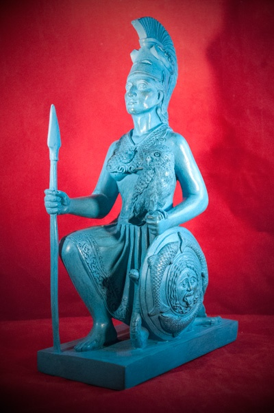 Athena With Owl And Spear Hex Old World Witchery