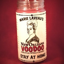 Hex Stay At Home - Marie Laveau's New Orleans Voodoo Spell Candle