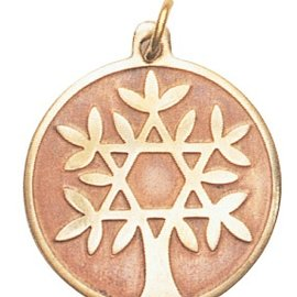 Hex Tree of Life Charm Pendant for Knowledge and Wisdom