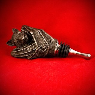 Hex Bat Wine Stopper in Silver Finish
