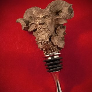 Hex Bacchus Wine Stopper in Bronze Finish