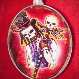 Hex Baron Samedi Pendant by Heather Reid