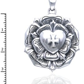 Hex The Rose Cross pendant
