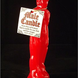 Hex Red Male Image Candle