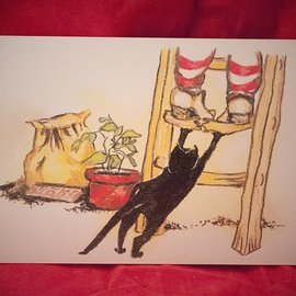 Hex Gotcha Postcard by Sabrina the Ink Witch