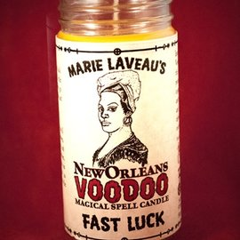 Hex Fast Luck - Marie Laveau's New Orleans Voodoo Spell Candle