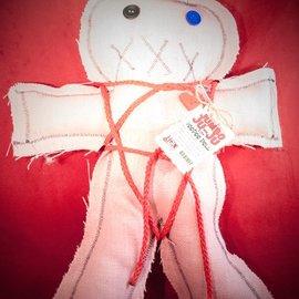 Hex Mama Kyri's Jumbo Ju-Ju Burlap Voodoo Doll in Pink