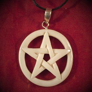 Hex Bone Pentacle Necklace