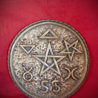 Hex Solid Bronze Extra Large British Traditional Wicca Altar Pentacle