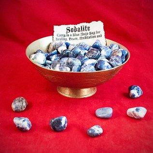 Hex Tumbled Sodalite
