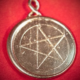 Hex Solomon Seal First Pentacle of Mercury in White Bronze