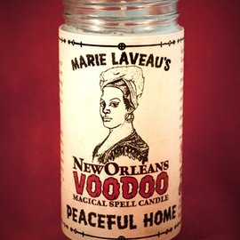 Hex Peaceful Home - Marie Laveau's New Orleans Voodoo Spell Candle