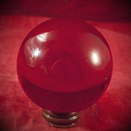 Hex 80mm Red Crystal Ball
