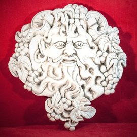 "Hex Bacchus Dionysus Wine God Plaque 8 3/4"" x 9 1/2"""