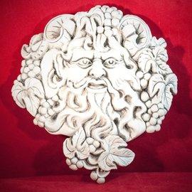 "Hex Bacchus Dionysus Wine God Plaque 8 3/4"""" x 9 1/2"""""