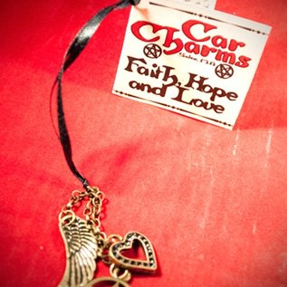 Hex Car Charm - Faith, Hope, Love