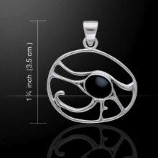 Hex Eye of Horus with Black Onyx