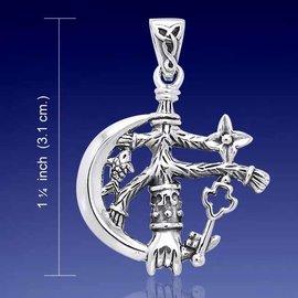 Hex Large Moon Cimaruta Pendant