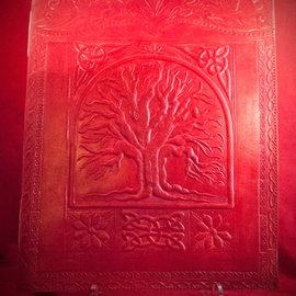 Hex Large Tree of Life Journal in Red
