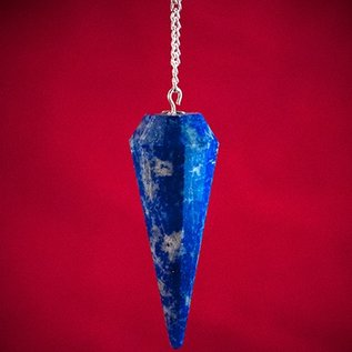 Hex Lapis 12 Faceted Pendulum