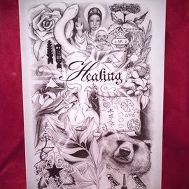 Hex Healing Postcard by Sabrina the Ink Witch