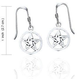 Hex Pentacle Dangle Earrings