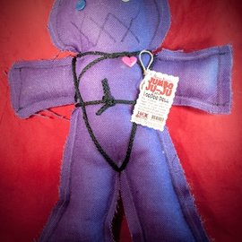 Hex Mama Kyri's Jumbo Ju-Ju Burlap Voodoo Doll in Purple