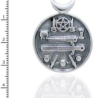 Hex Pentacle and Sword Medallion