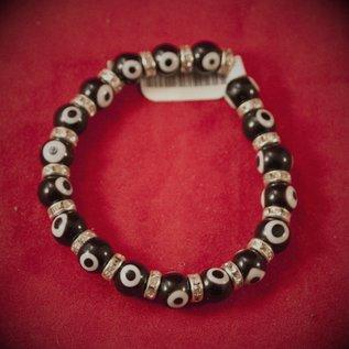 Hex Evil Eye Bracelet Black 4mm