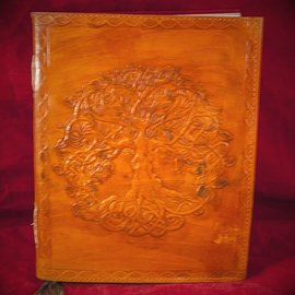 Hex Small Detailed Celtic Knot Tree Journal in Orange