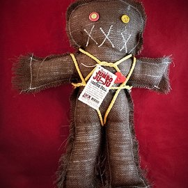 Hex Mama Kyri's Jumbo Ju-Ju Burlap Voodoo Doll in Brown