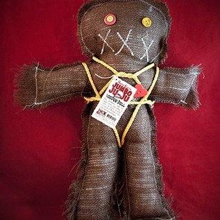 Hex Mama Kyri's Jumbo Ju-Ju Burlap Voodoo Doll in Brown