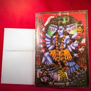 Hex Greeting Card - Kali