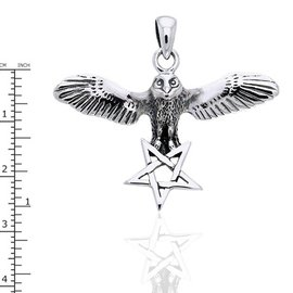 Hex Flying Owl With Inverted Pentacle