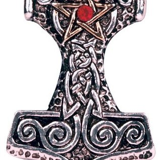 Hex Thor's Hammer Pendant: Strength, Courage & Success